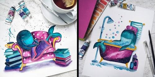 00-Katya-Goncharova-9-Whale-Paintings-and-1-Giraffe-www-designstack-co