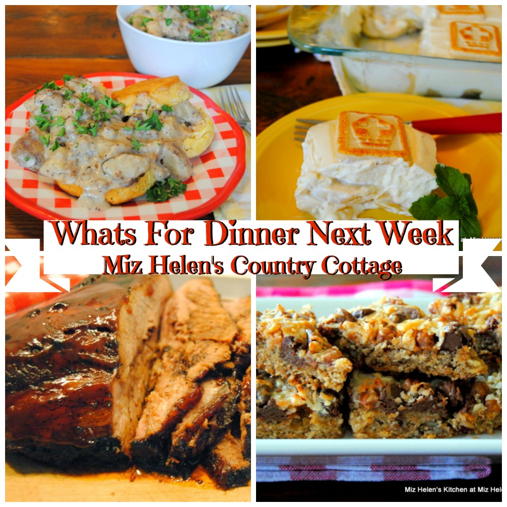 Whats For Dinner Next Week * Week of 1-19-20