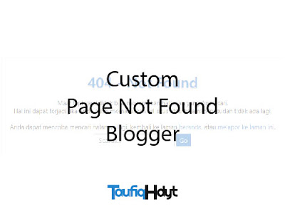 custom page not found blogger