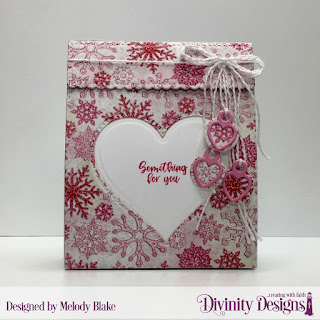 Divinity Designs Stamp Set: Festive Favors Tag Sentiments,Custom Dies:  Festive Favors, Paper Collection: Snowflake Season