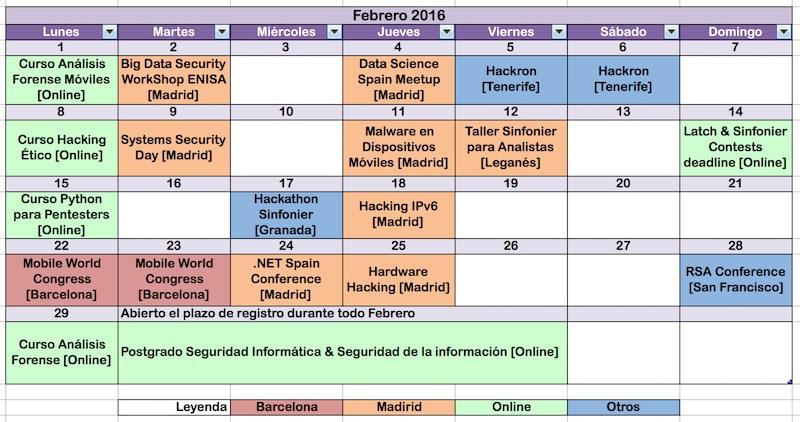 Calendario Fi Upm.Un Informatico En El Lado Del Mal Seguridad Informatica En Febrero