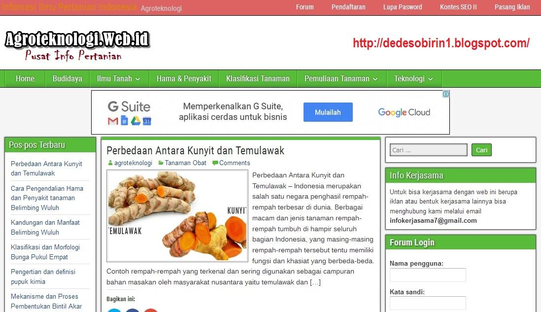 Agroteknologi.web.id
