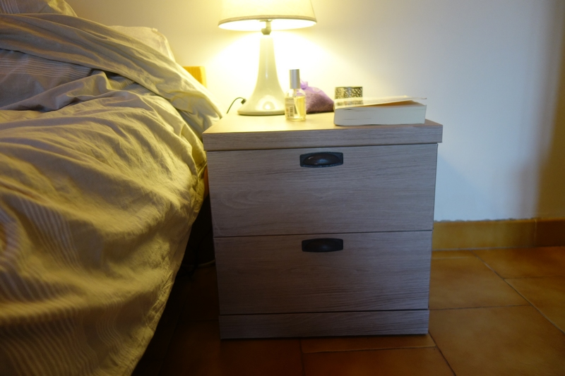 resultat final diy table de nuit