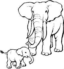 mewarnai gambar gajah   Gambar Mewarnai   Pinterest