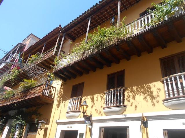 Balconies in Cartagena