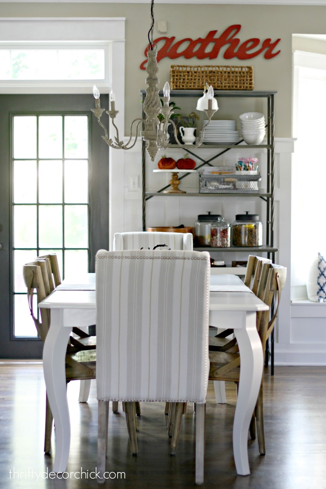 white table in kitchen