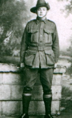 ACT Memorial, Jack O'Grady from  Our Queanbeyan 'Boys' No.2 postcard, Howard & Shearsby 191?, provided courtesy of Patricia Hardy