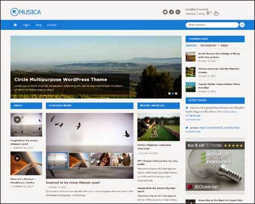 Musica Free WordPress Theme