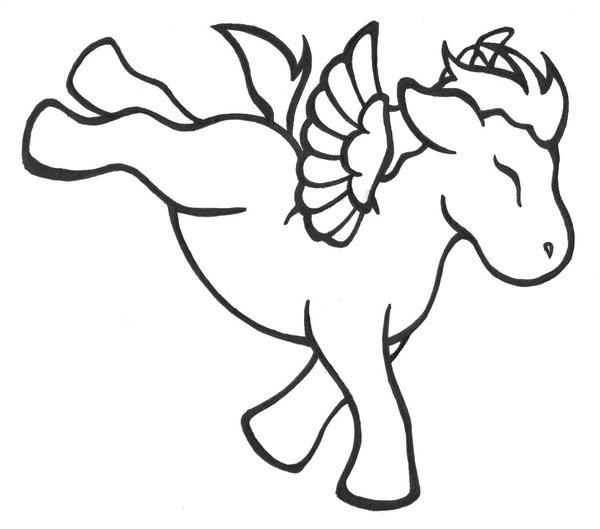 unicorn pegasus coloring pages - photo#11
