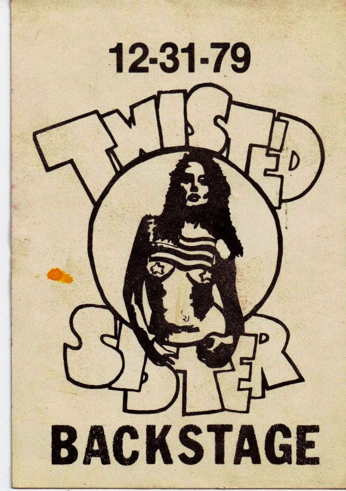 Twisted Sister backstage pass 1979