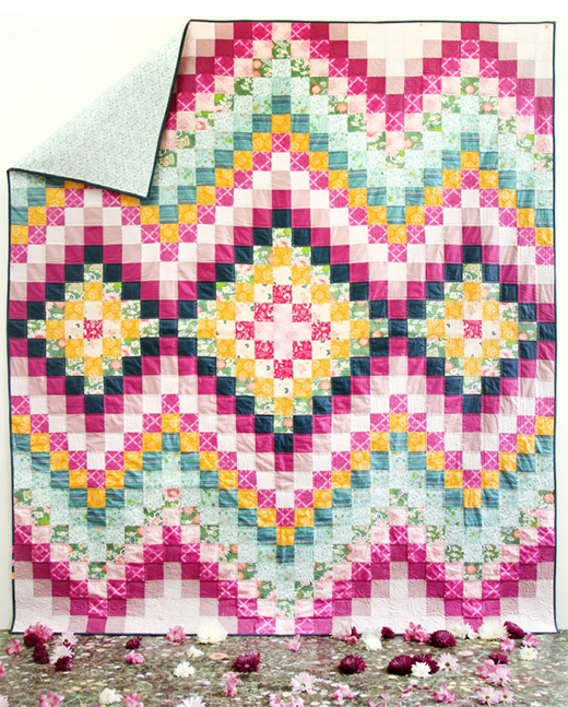 Spontaneous Quilt Free Pattern designed by Sharon Holland of Live art gallery fabrics
