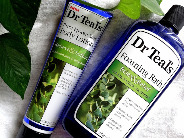 Dr Teal's Pure Epsom Salt Eucalyptus and Spearmint Body Lotion and Foaming Bath