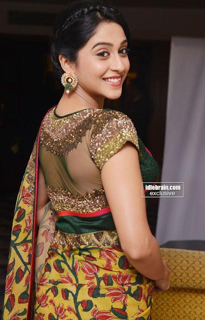 only actress regina in cute saree