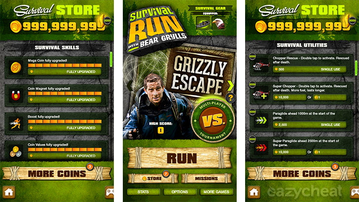 Survival Run with Bear Grylls Cheats