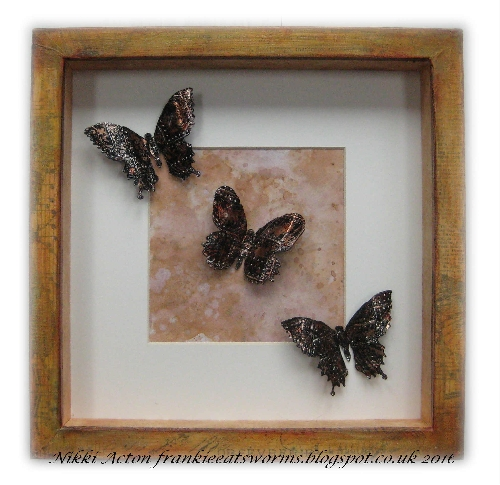 Addicted to Art - Tim Holtz Industrial Technique - Butterfly Duo
