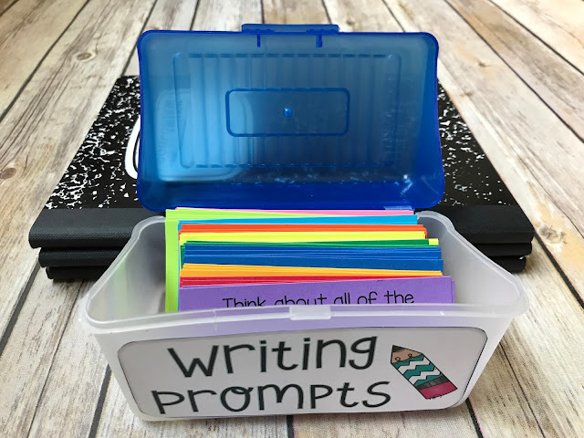 Creative writing prompts for journals and writing center