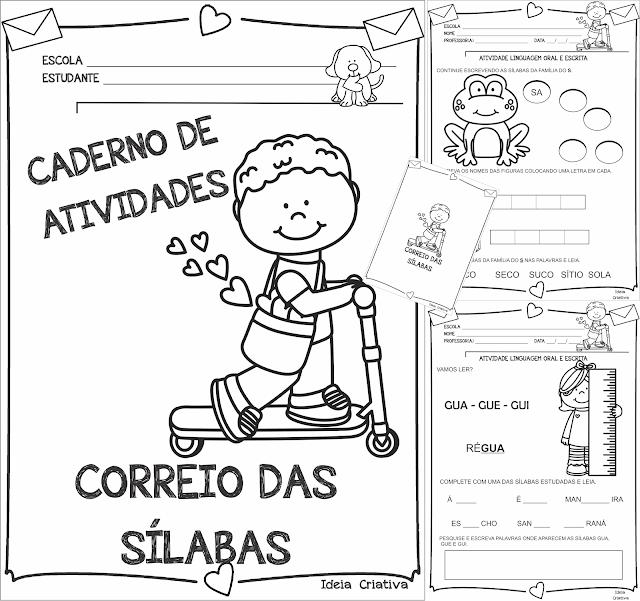 Caderno de Atividades Correio das Sílabas