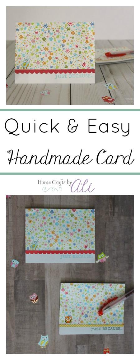 Easy tutorial to make a quick handmade card