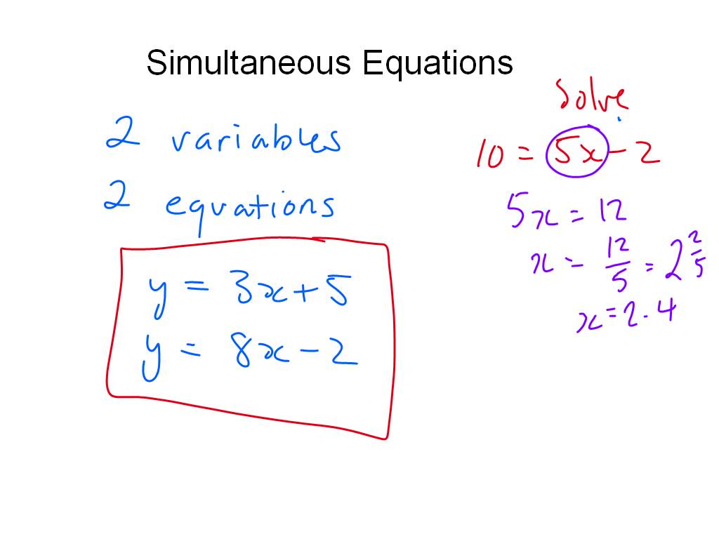 Middle School Maths Simultaneous Equations