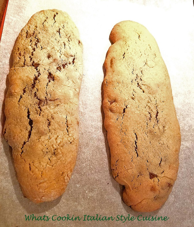 this is how to make Italian fudge roll cookies. This is a vintage recipe of dough that is filled with a chocolate fudge, rolled then sliced. These are two loaves it makes.