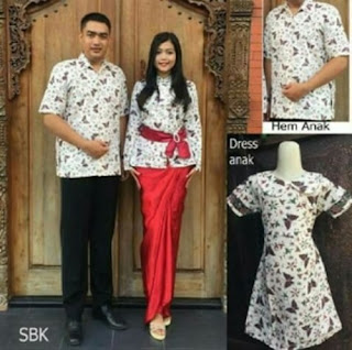 Model Baju Batik Couple Dress Panjang