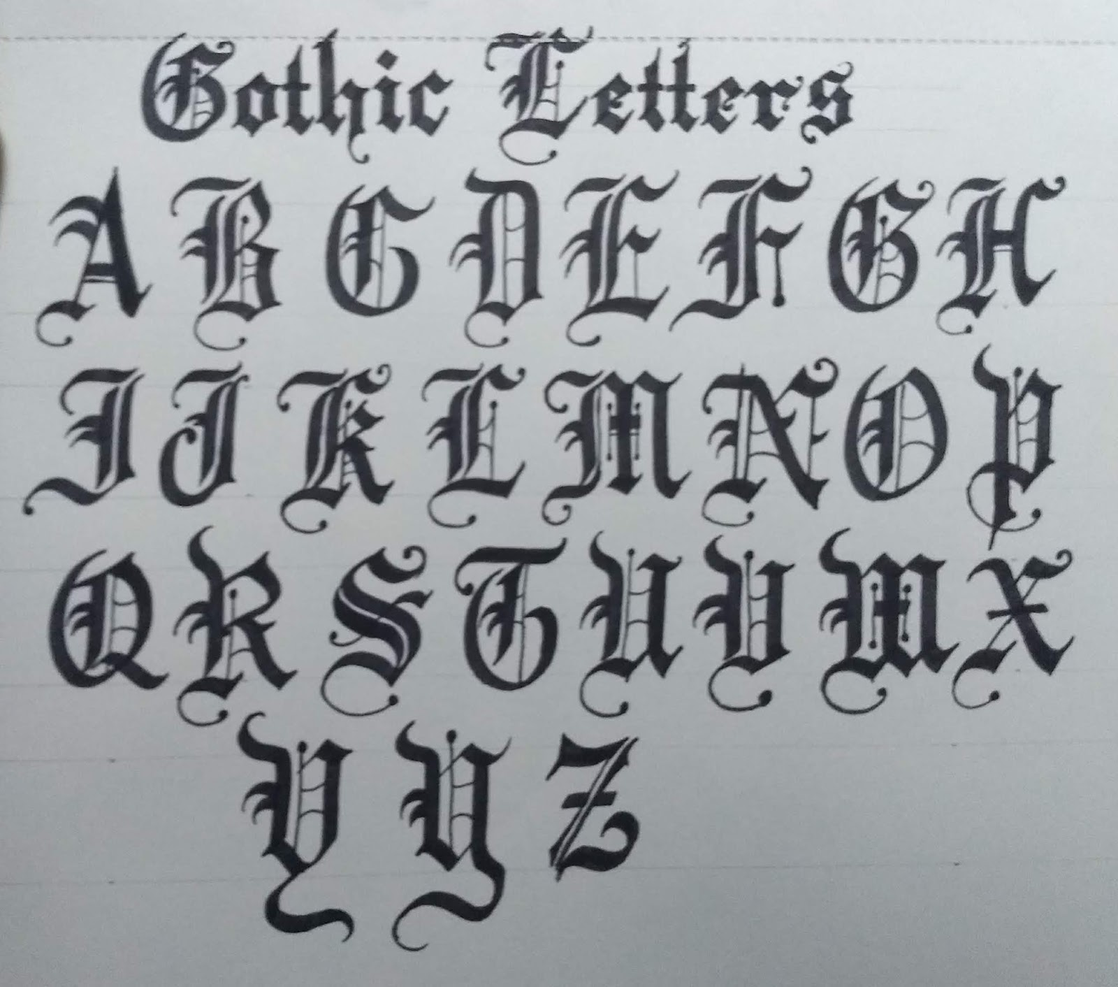 How To Write Gothic Style Old English Calligraphy