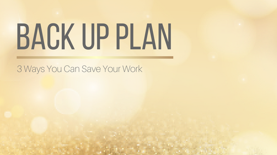 3 Ways You Can Back Up Your Work