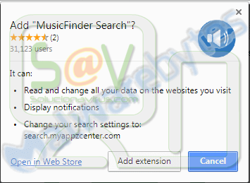 MusicFinder Search (New Tab)