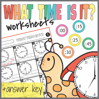 https://www.teacherspayteachers.com/Product/Telling-Time-Worksheets-3084557