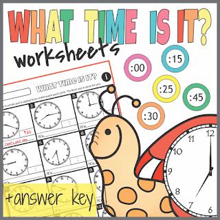 https://www.teacherspayteachers.com/Product/Telling-Time-Worksheets-3084557