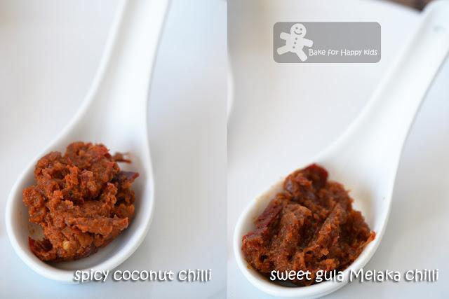 Nyonya coconut gula Melaka sambal chillies