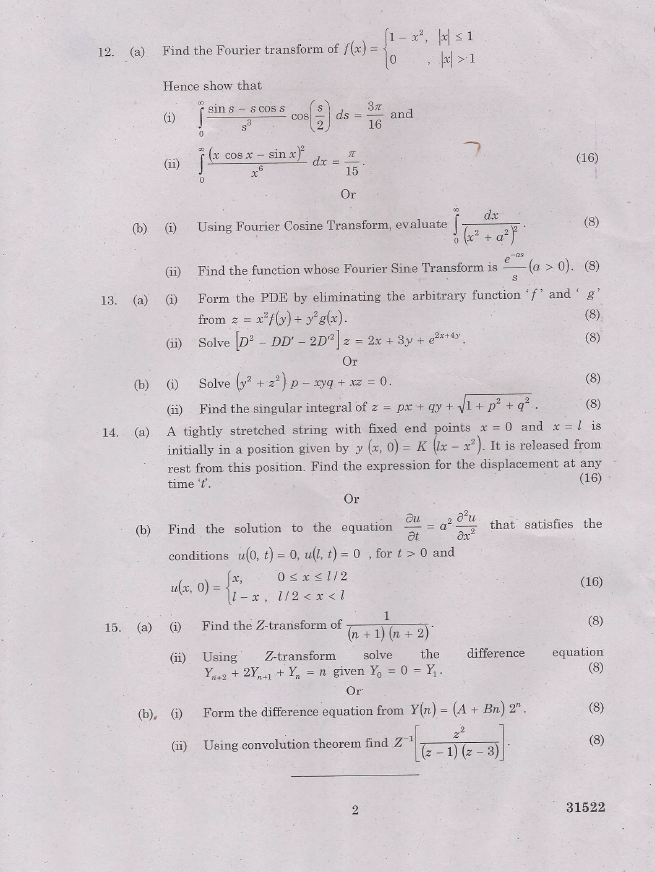 MA2211 Transforms and Partial Differential Equations (TPDE