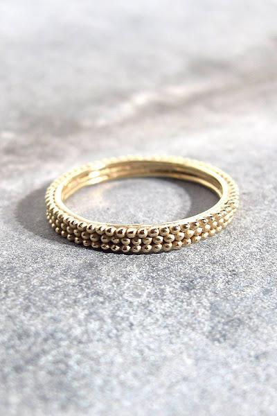 Bague vermeil bijoux Stalactite