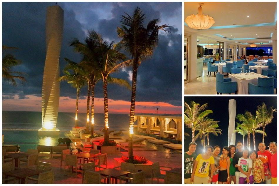 Suasana Malam di Vue Beach Club