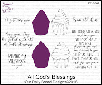 ODBD All God's Blessings Stamp/Die Duo