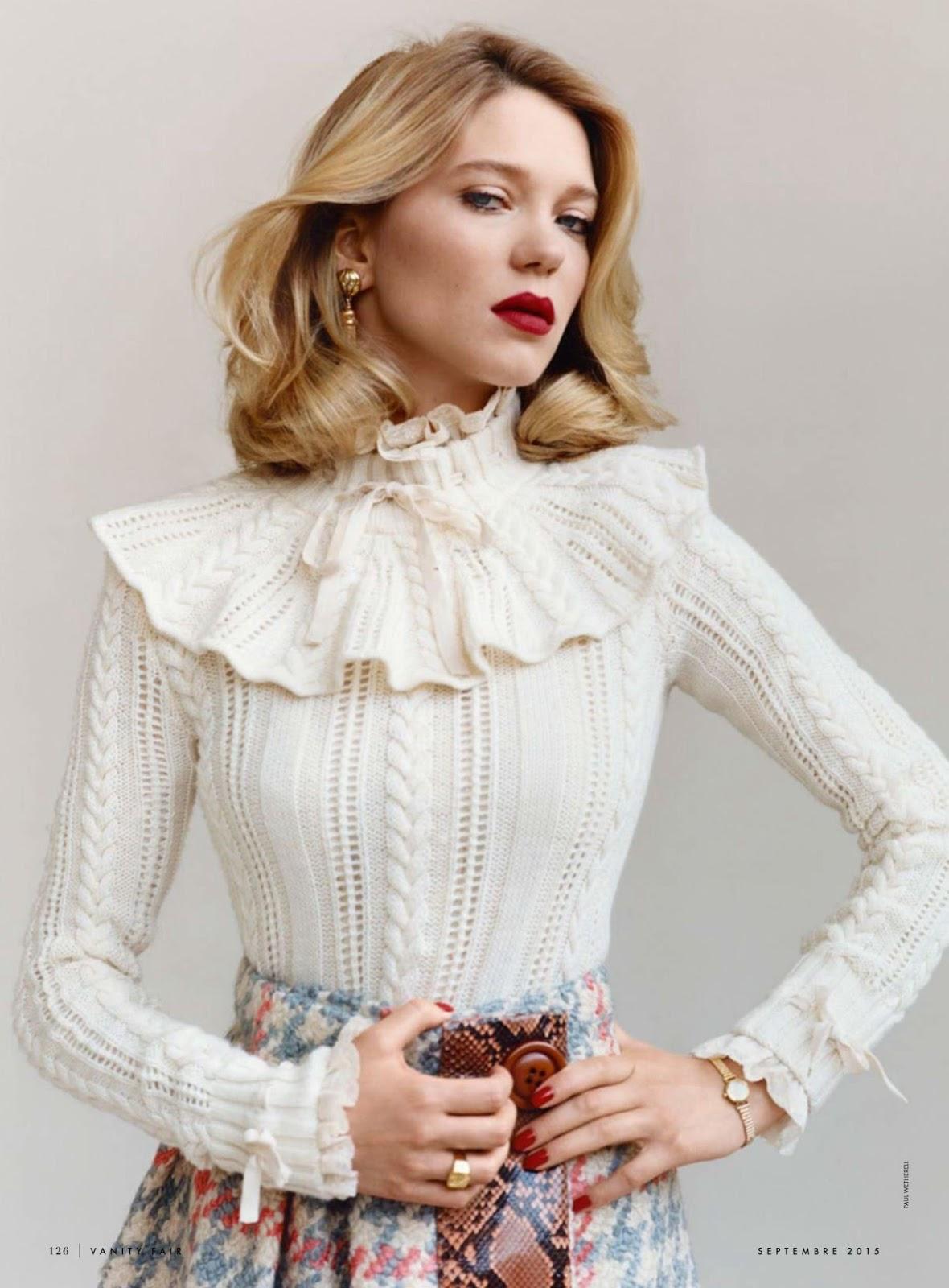 Lea Seydoux In Elle Magazine France February 2014 Issue: Duchess Dior: Lea Seydoux By Paul Wetherell For Vanity