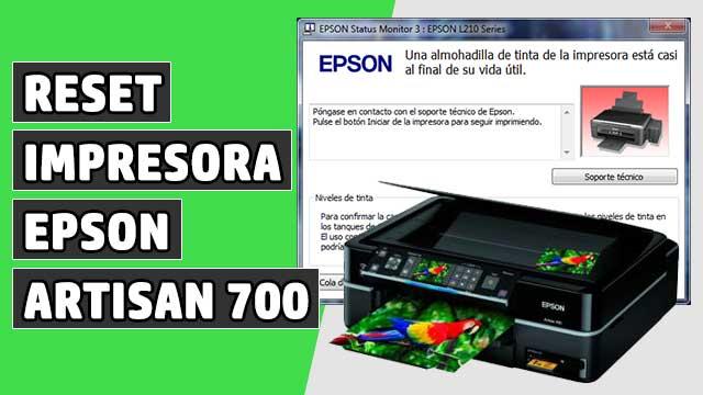 reset Almohadillas impresora EPSON Artisan 700