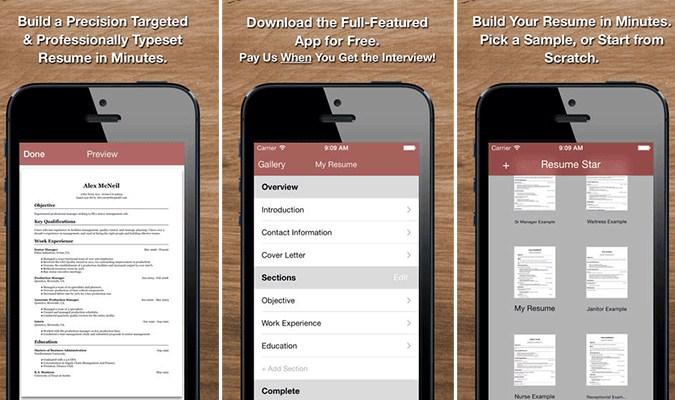 Aplikasi Android dan iOS Terbaik tuk Bikin CV - Resume Star