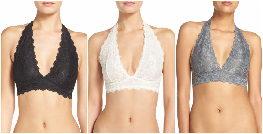 Free People Lace Halter Bralettes for only $14 (reg $20) + free shipping