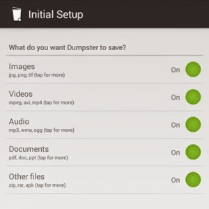 Menggunakan Aplikasi Dumpster