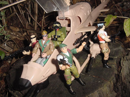 2002 General Tomahawk, 1993 Ace, Convention Exclusive Paratrooper Dusty, 1990 Night Creeper, Gung Ho