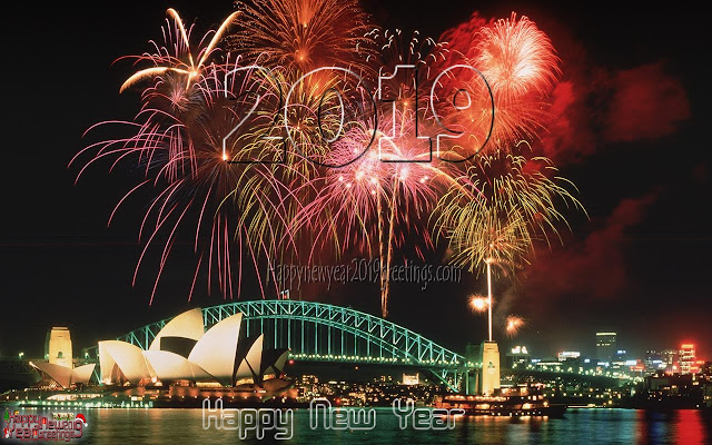 New Year 2019 Fireworks Greetings,Pictures 1080p Download