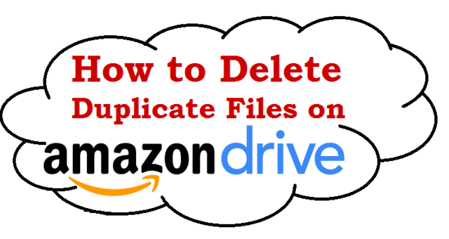 How to Delete Duplicate Data on Amazon Drive