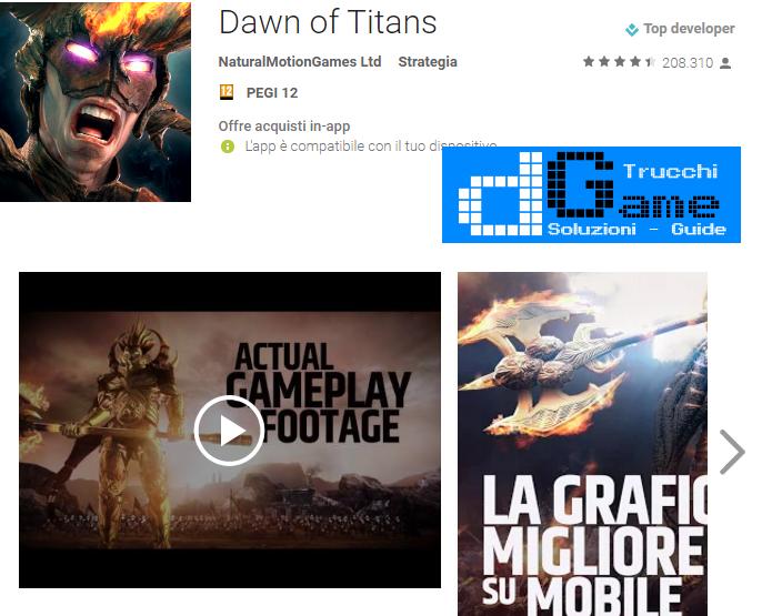 Trucchi Dawn of Titans  Mod Apk Android v1.13.3