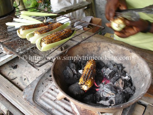 Roast Corn Simply Trini Cooking