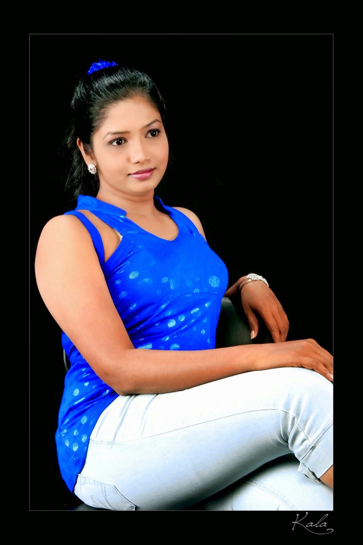 Punjabi Bhabi Rose With Blue Sckart Type Dress Exposing -9104