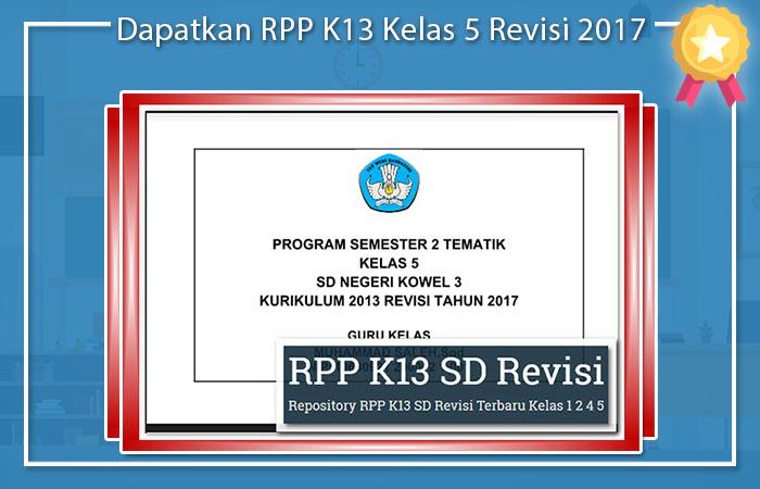 Promes Kelas 5 Kurikulum 2013 Revisi 2017