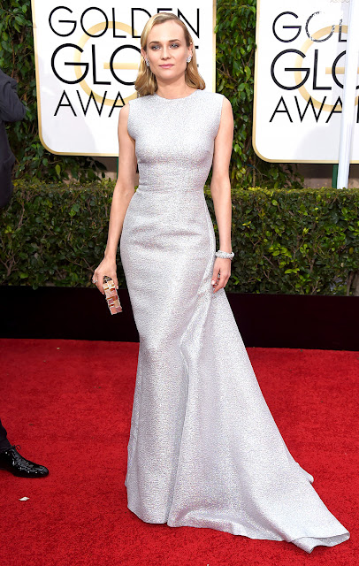 Diane Kruger in Emilia Wickstead for Golden Globes 2015