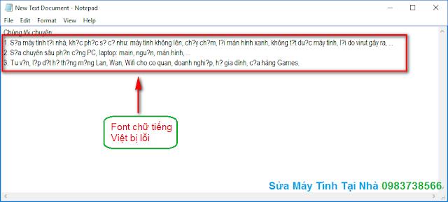 Cách lưu file Notepad bằng tiếng Việt - H01