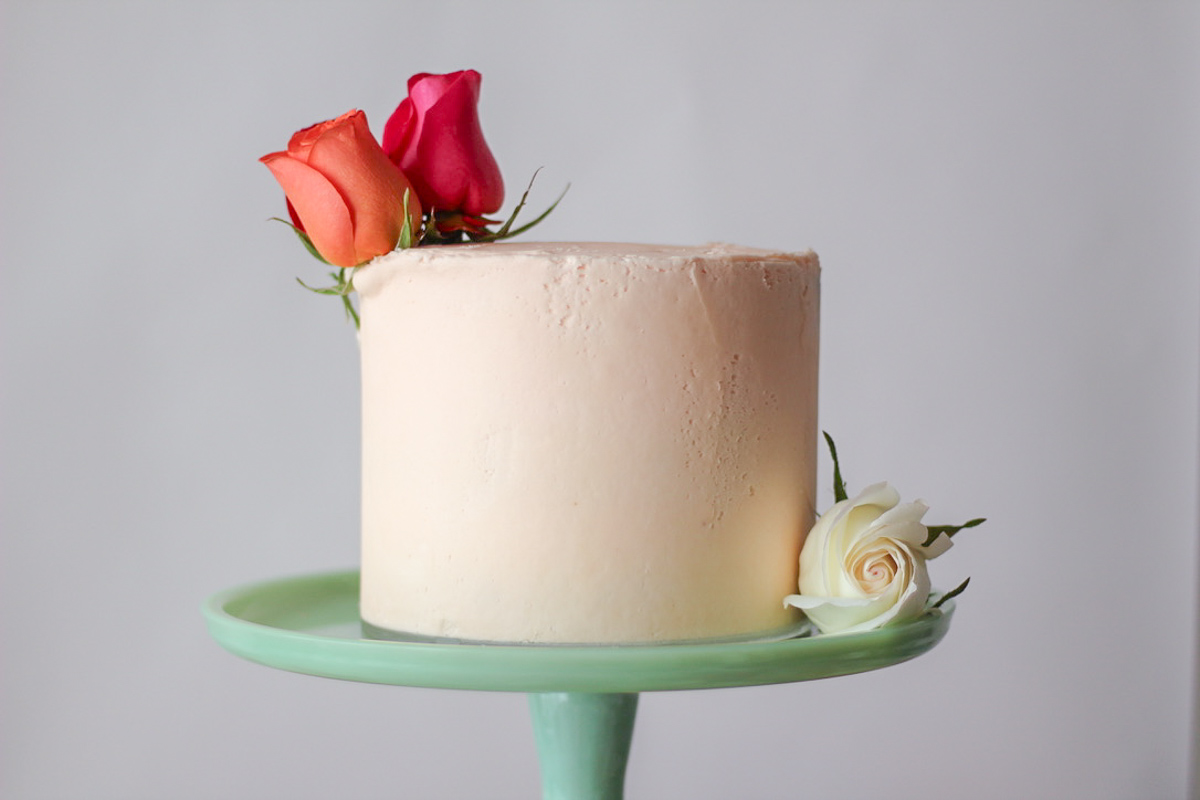 Cardamom Cake with Rosewater Frosting